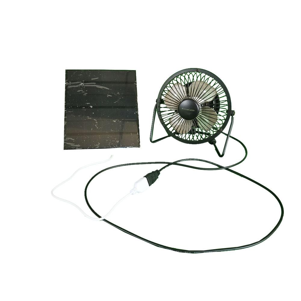 ventilador movido a energia solar painel de ferro para o escritorio em casa de viagem ao