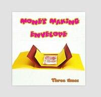 Free Shipping Money Making Envelope Three Times Magic Tricks Magic Props