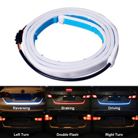 Lonleap 1 2M LED Strip Trunk Tail Brake Turn Signal Light Flow Type Ice Blue Red