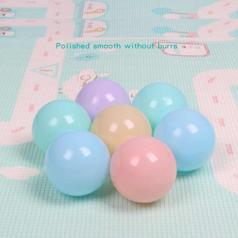 5.5センチ/50ピースカラフルなプラスチックボールおもちゃ水ソフト波浪ボール用をプール赤ちゃんスイムピットおもちゃ屋外スポーツエアボールHYQ8