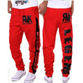 2016 pumphose Europe new style fashion leisure  pants print fitness  pants men pants M-XXXL