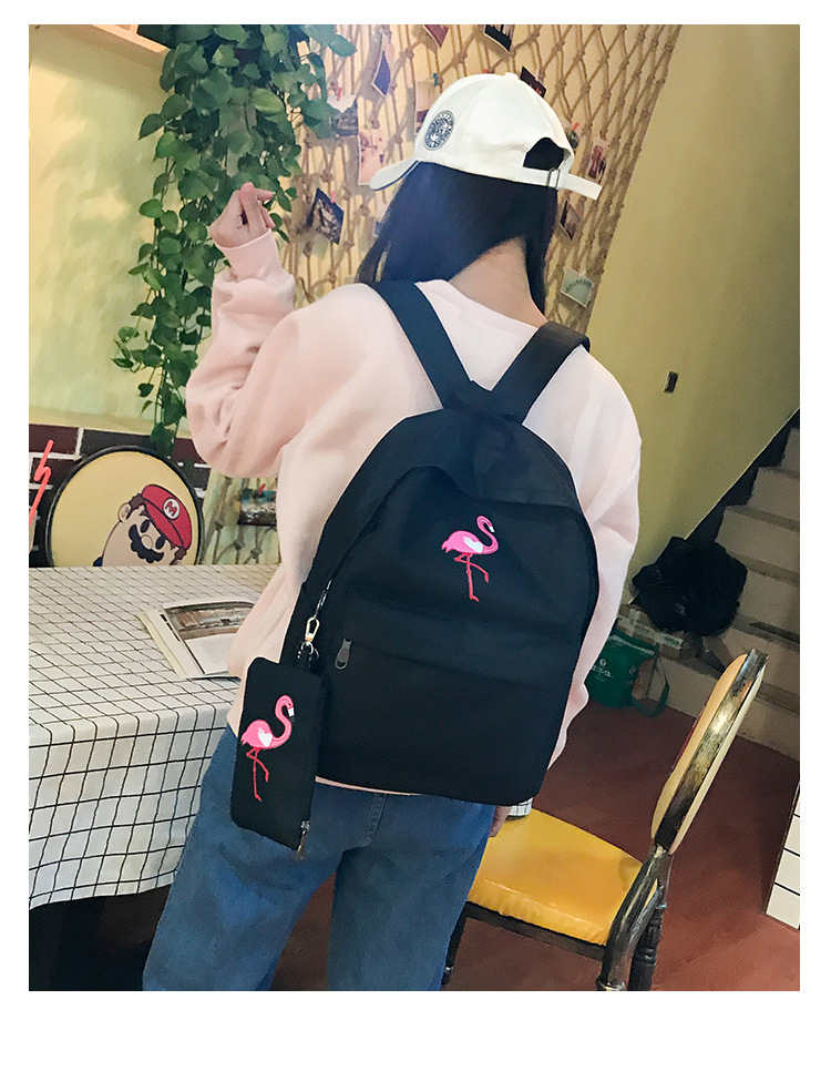 HTB1XcuPw qWBKNjSZFAq6ynSpXa0 Backpacks Brand Women Simple Flamingo Printing Backpack For Teenage Girls Laptop School Bags Mochila 2019