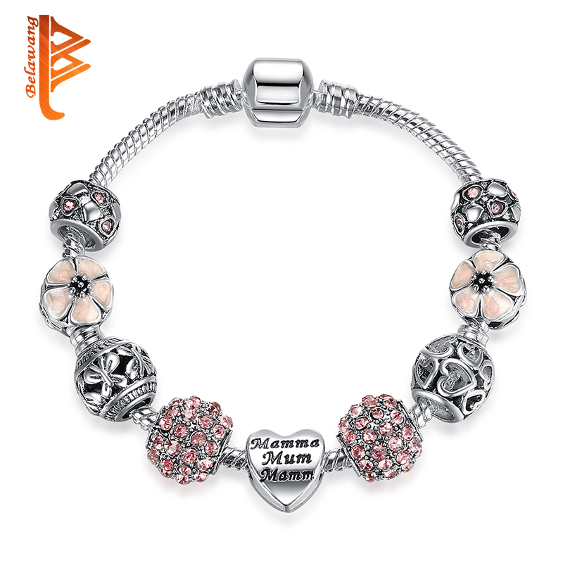 Jewelry & Watches Mother Silver Charm Bracelet.