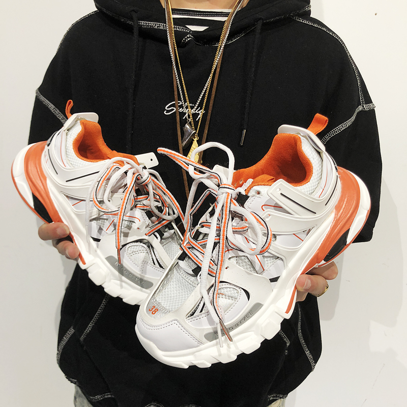Harajuku Fashion Dad Sneakers Kanye West Light Breathable Men Casual Shoelaces Shoes Zapatillas Hombre Triples Tenis Masculino