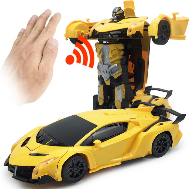 1:12 Gesture control RC Car Transformation Robots Models Remote Control Deformation Car RC fighting toy Kids radio-controlled car