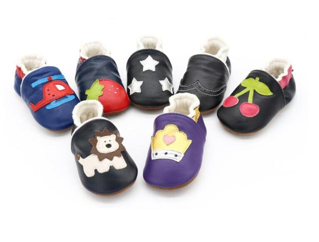 2019 New Skid-Proof Fox Baby Shoes Soft Genuine Leather Baby Boys Girls Infant toddler Moccasins Shoes Slippers First Walkers 2