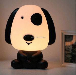 Image 3 - Tafel Lampen Babykamer Cartoon Night Slapen Light Kids Bed Lamp Nacht Slapen Lamp met Panda/Hond/Beer vorm EU/US Plug
