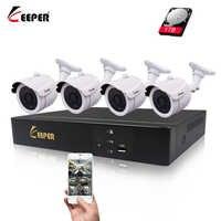 Keeper 4CH 1080P HDMI POE NVR camera Kit CCTV Security System 2MP IR Outdoor Audio Record IP Camera P2P Video Surveillance Set