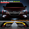 DC 12V LED Daytime Running Light For Mazda 3 Axela Car Fog Lamp DRL 2014+ Turn Signal White & Amber