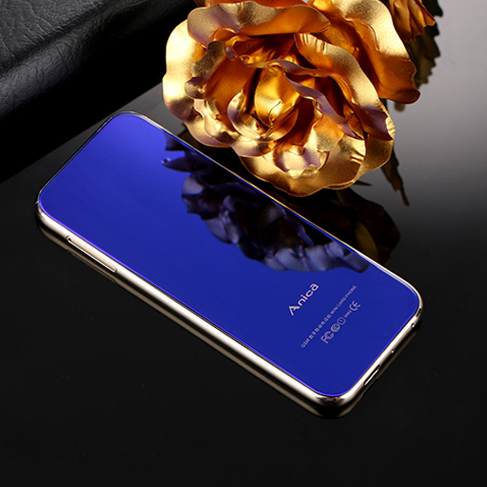 2018 sıcak satış yeni Anica T8 Mini moda Ultra ince öğrenciler dokunmatik kontrol cep telefonu için alternatif kart cep telefonu