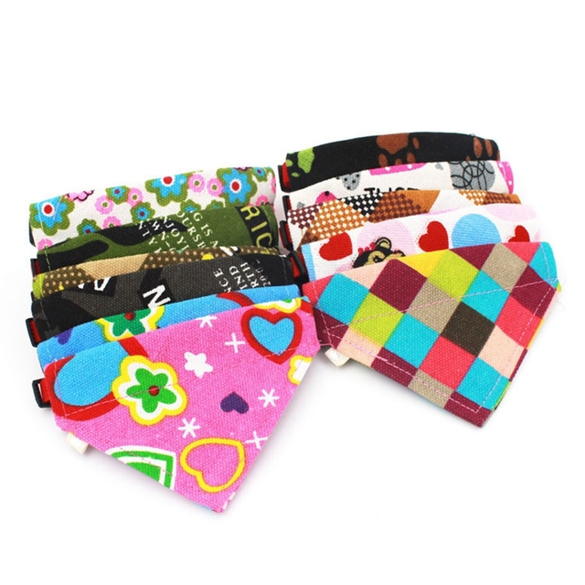 Top Grand Adjustable Dog Cat Cotton Triangle Towel Scarf Shawl Variety Of Patterns Dropship #J01
