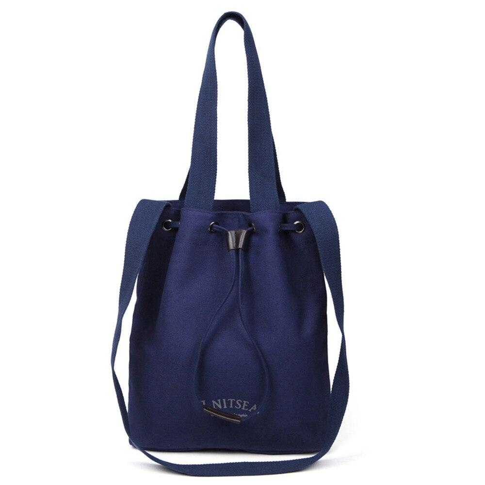2017 Simple and practical Women Fashion Handbag Canvas Shoulder Bag Large Tote Ladies Purse Shopping Bag gift wholesale A7