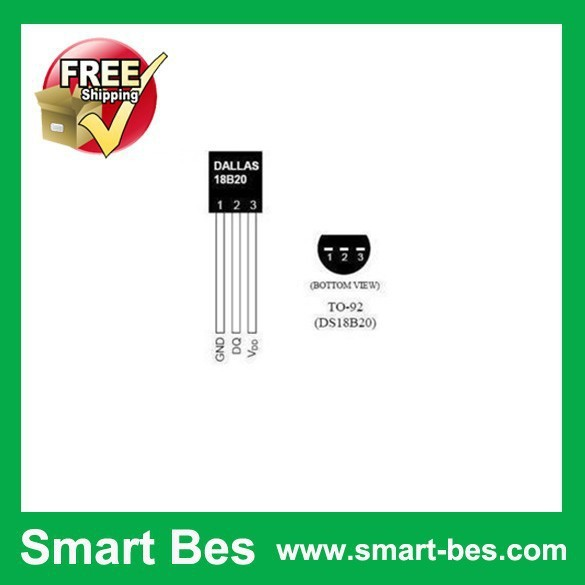 100pcs/lot Free shipping ~Smart Bes DS18B20 18B20 DALLAS TO-92 Programmable Resolution 1-Wire Digital Thermometer