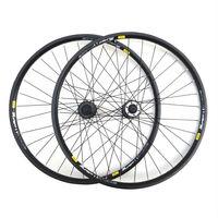 Mountain bike wheel type brake drum of 319 aluminum alloy wheel rim spoked wheel group