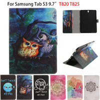 SM T820 Tablet Case For Sasmung Galaxy Tab S3 9 7 T820 T825 Cases Cover Owl