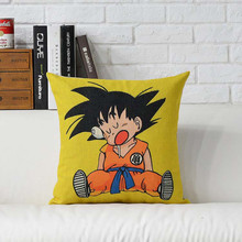 18×18 Pillow covers Anime Dragon Ball Cushion Cover Home Decor Sofa Pillow Case