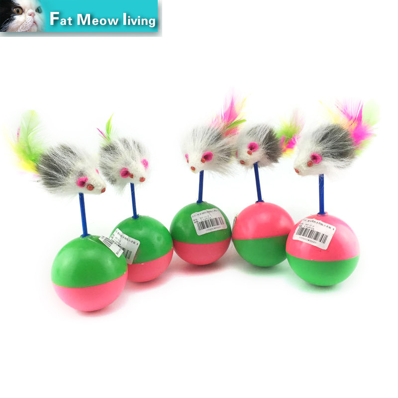 1pcs Cat toy mouse Cute Pet Cat Kitten Training Funny Mouse Interactive Play Toy Tumbler Ball Products cat scratch Free shipping