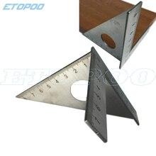 45 градусов треугольная измерительная линейка из нержавеющей стали треугольная квадратная стропильная скорость квадратная T и Tri угловая квадратная MulitScribe инструменты