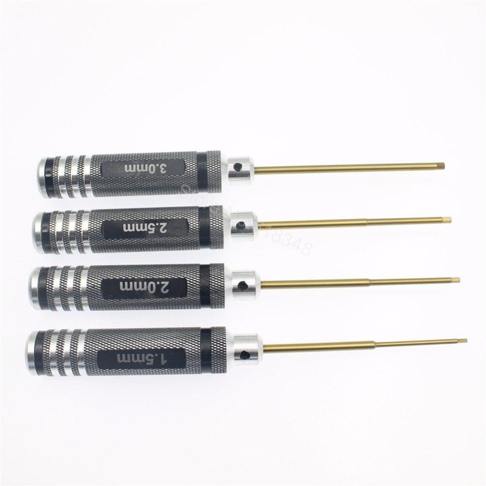 10 Sets 4pcs Set Titanium Steel 1 5mm 2 0mm 2 5mm 3 0mm Hexangular Screwdriver