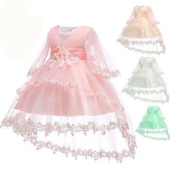 f000ecd3fc Bebé niña 1 año cumpleaños vestido Formal pétalos de niño niña bautizo  vestido bebé princesa vestidos de fiesta para las chicas 0 -2 Y