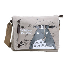 Anime Naruto Black Butler Totoro Zelda Attack on Titan Tokyo Ghoul Bags Shoulder Student Crossbody Canvas Bag Action Figure Toy