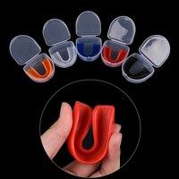 Novo choque esportes grau superior goma shieldmouthguard boca guarda dentes proteger para o boxe basquete 1 conjunto