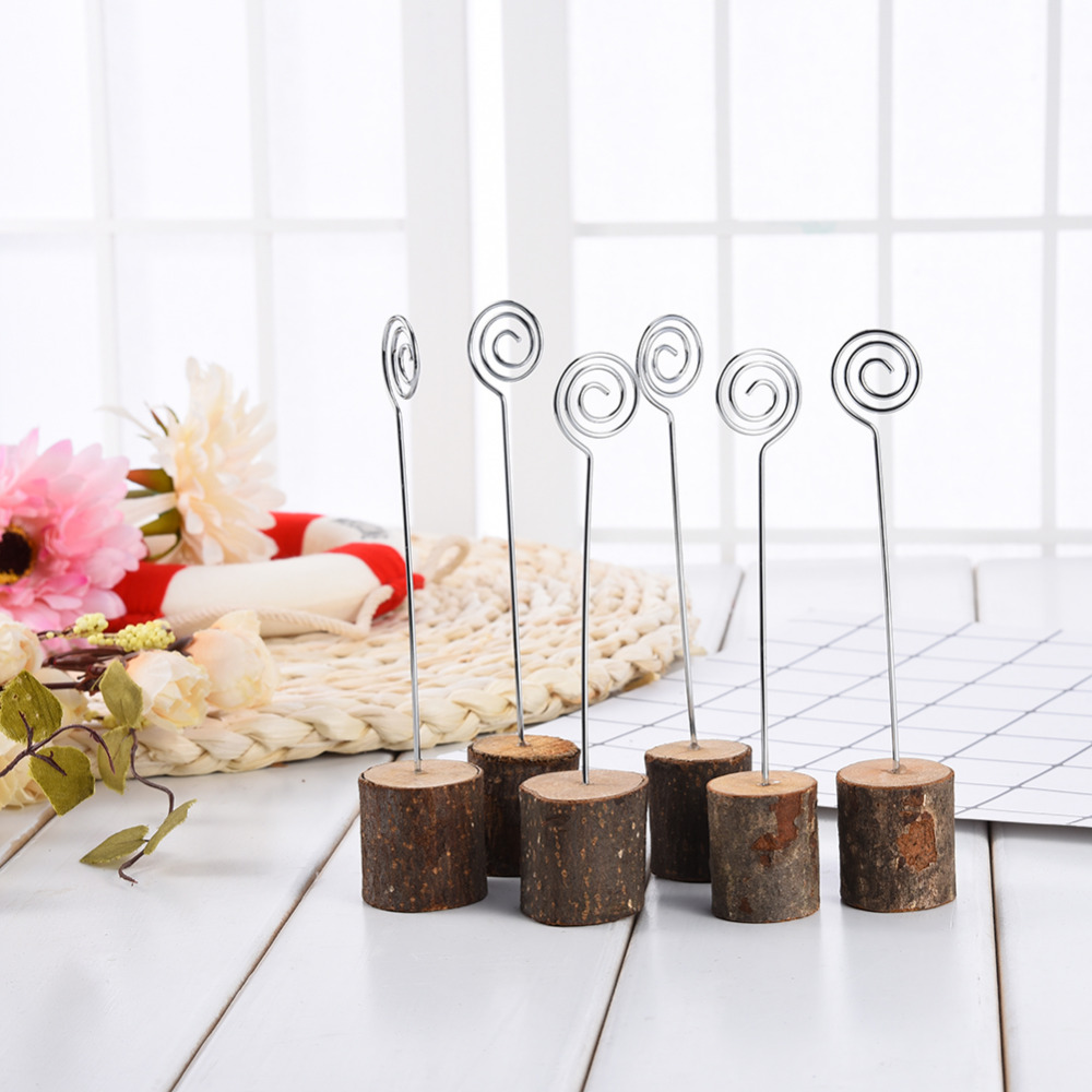 6pcs/lot Branches Wedding Photos Wooden Seat Place Holder Table ...