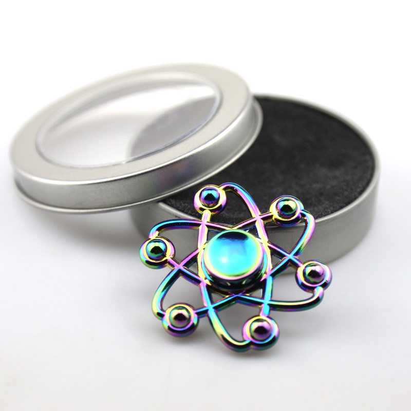 New 2017 Colorful Hexagram Fidget Toys Hand Spinner Metal Fidget Spinner and ADHD Adults Children Educational