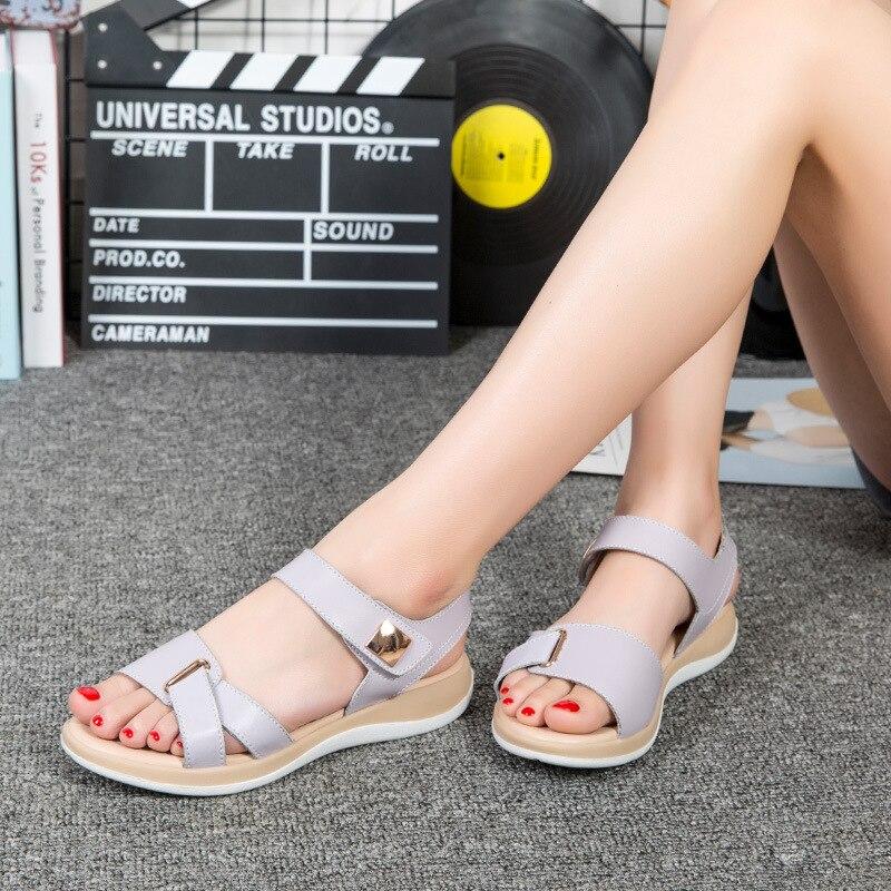 c3 0113 Cuero c5 Gray c2 De Silver Pink Mujeres c6 Gray Las S Gray Casuales Green c4 Huecos Nuevas Verano Pink Moda Sandalias Zapatos Black C1 Gray CnCTrSBY