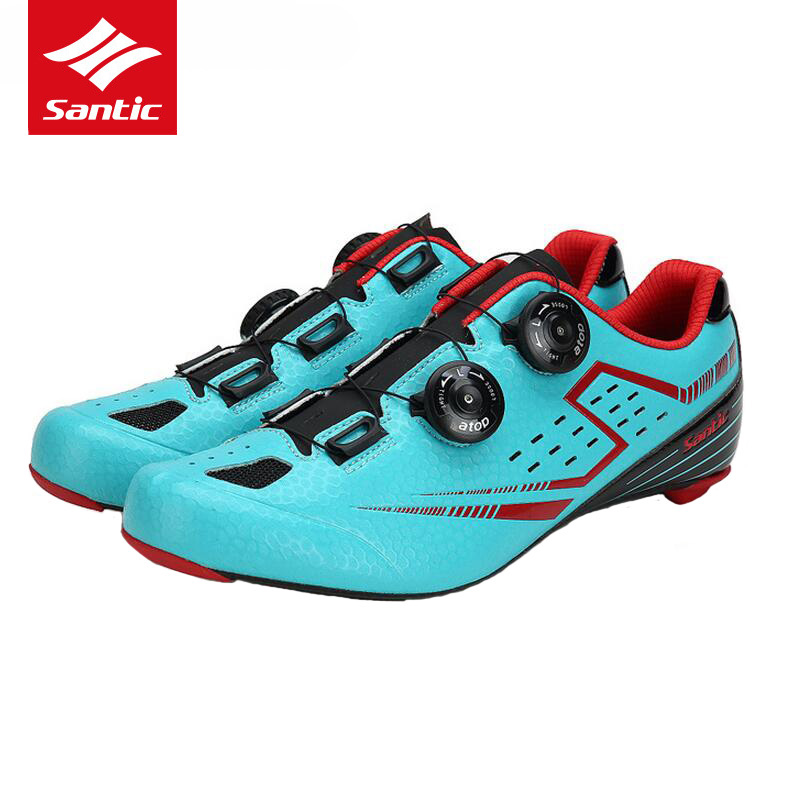 все цены на Santic Road Cycling Shoes Pro Ultralight Carbon Fiber Sole Road Bike Shoes Self-lock Athletics Bicycle Shoes Zapatillas Ciclismo