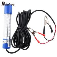 12V Green Night LED Underwater Boat Submersible Fishing Lure Baits Bulb Lamp Light Clip On Free