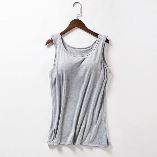 bd3cb22f74324 2018 Fashion Summer Tank Tops Sexy Top Women Soft Modal Pad Bra Bralette  Tops Solid Padded Camisole Female Ladies 6 Colors