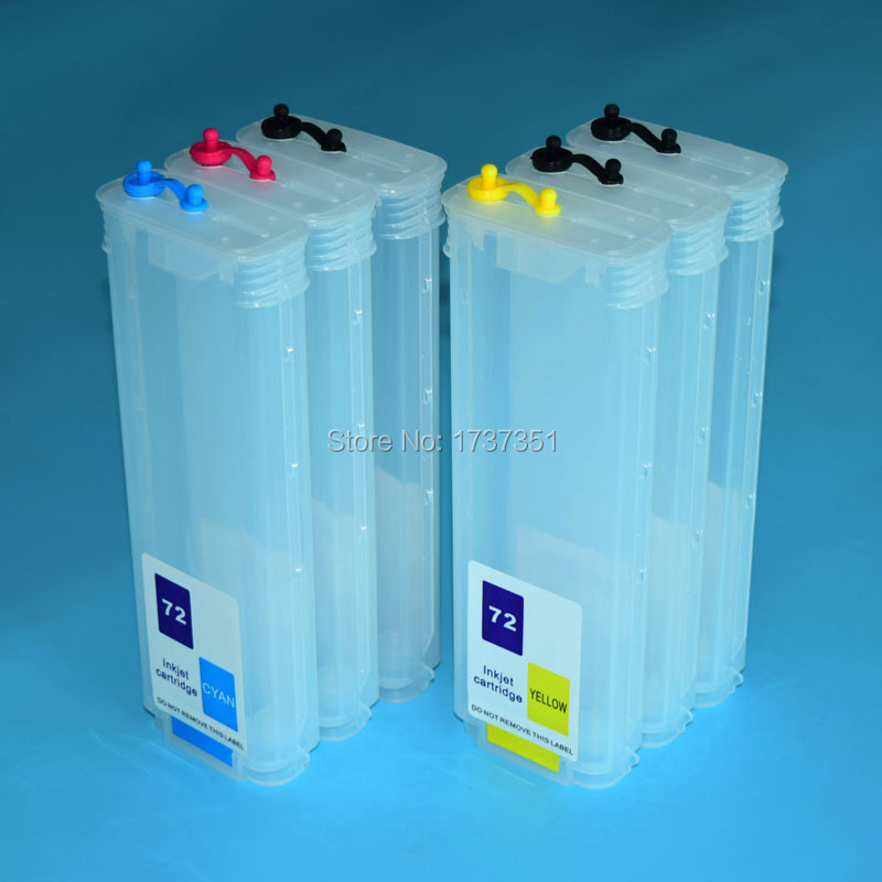 280ml 6 color refill ink cartridge for HP 72 for HP Designjet t610 t620 t770 t790 t1100 t1120 t1200 t1300 t2300 printer victoria charles salvador dalí
