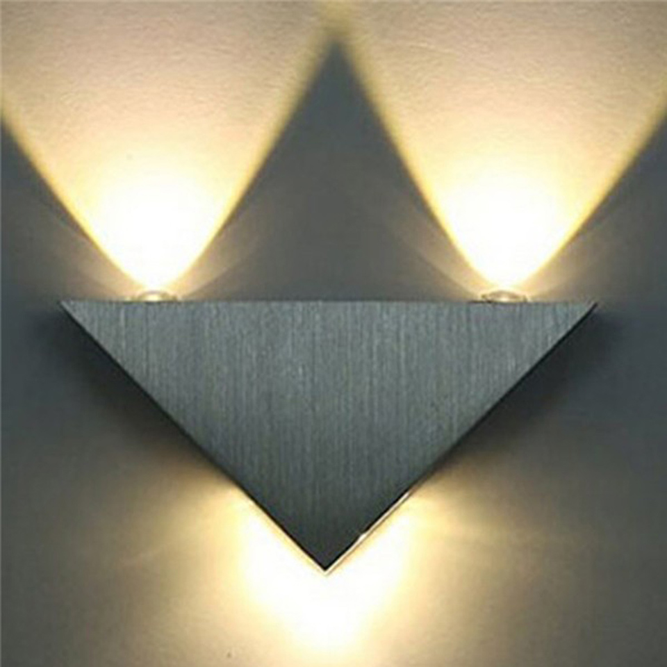 Indoor decorative led ceiling lights wall lamps china led ceiling - 3w Triangle Aluminum Led Wall Lamp Ac85 265v 3w High Power Modern Home Decorating Lamp