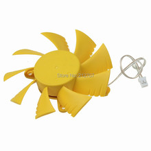 2 Pieces Gdstime Computer PC VGA Video Graphics Card Heatsink Cooler Cooling Fan 75mm 12V 2-Pin centechia mini 55mm 2 pin graphics cards cooling fan aluminum gold heatsink cooler fit for pc computer cpu vga video card