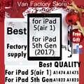 + מקורי עבור iPad 5 אוויר A1474 A1475 A1476 iPad 9.7 2017 5th Gen A1822 A1823 Digitizer מגע מסך קדמי זכוכית עצרת לוח