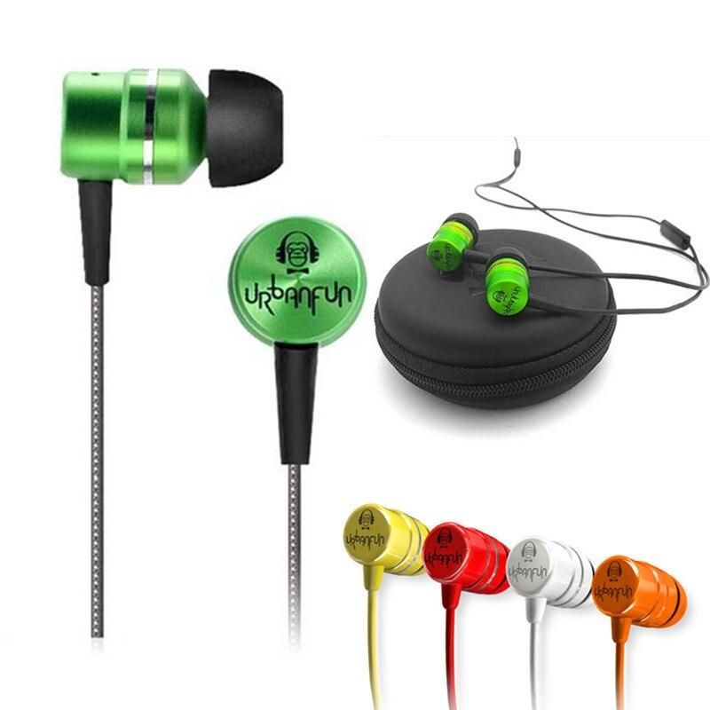 URBANFUN BM-1 3.5mm Dans L'oreille Écouteurs 1DD + 1BA Hybride/Béryllium Diaphragme Dynamique HIFI Écouteur En Métal Casque Avec micro Livraison Gratuite