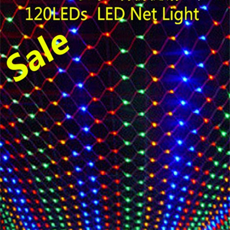 1.5x1.5m LED Net Curtain Light Flash Holiday Lighting Garland Chandelier Home Garden Outdoor Fairy Wedding Outdoor Decoration