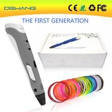 DEWANG promotional orange first generation high quality 3d printer pen 20colors 10m ABS filament with EU/AU/US/UK plug Free ship цена