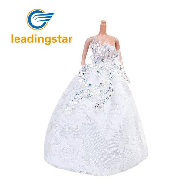 LeadingStar Trägerloses Hochzeitskleid Volles Kleid Weiß für Barbie ...