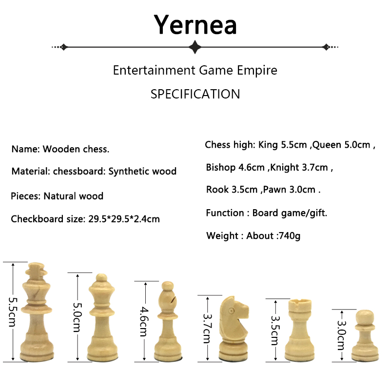 Yernea New Magnetic Chess Games Wooden Chessboard Outdoor Chess Set Games Solid Wood Chess Pieces Magnetic Folding Chessboard 1