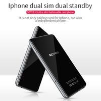 Dual SIM Dual Standby Smart Adapter Phone SOYES H3 Ultra thin 8G Memory Pedometer Bluetooth Music GSM Mini Card Phone