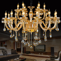 Modern Gold Crystal Chandeliers Lamp Lights Luxury Cristal Para Lutre Chandelier Lighting Suspension Luminaire Hotel Dining