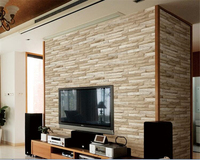 Beibehang 3d Wallpaper Simple Modern Papel De Parede Bedroom Background Wall Stereo Brick Brick Wallpaper For
