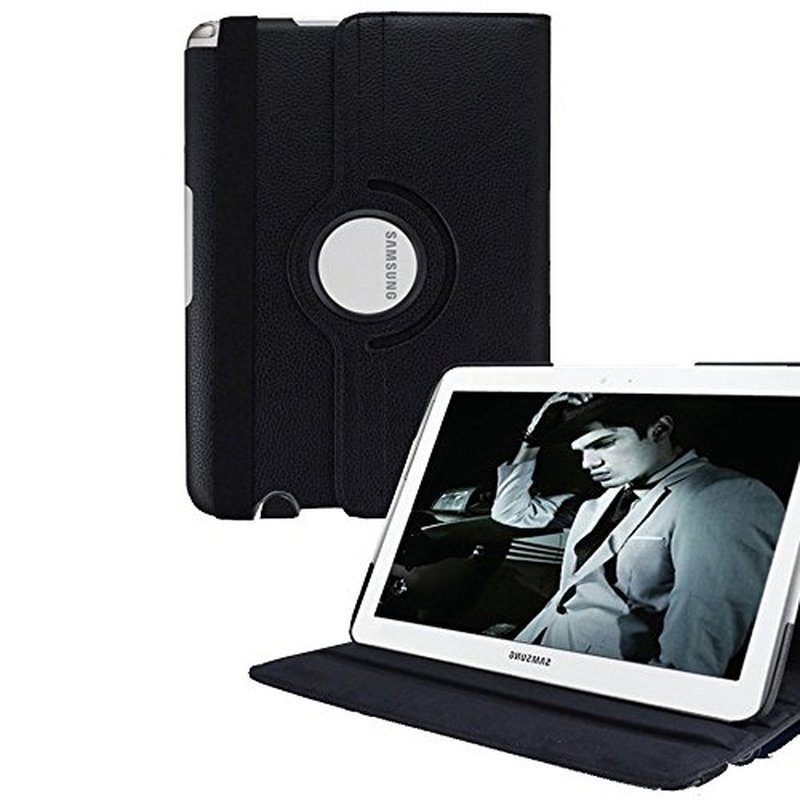 For <font><b>Samsung</b></font> N8000 Case Galaxy Note 10.1 <font><b>Gt</b></font>-N8000 Tablet Cover N8010 360 Degrees Rotating Stand PU Leather Flip Case Magnet Cases image