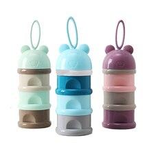 3 слоя лягушка стиль портативный контейнер для детского питания коробка Эфирные злаки мультфильм молочные Бутылочки для присыпки малыша дети формула контейнер для молока