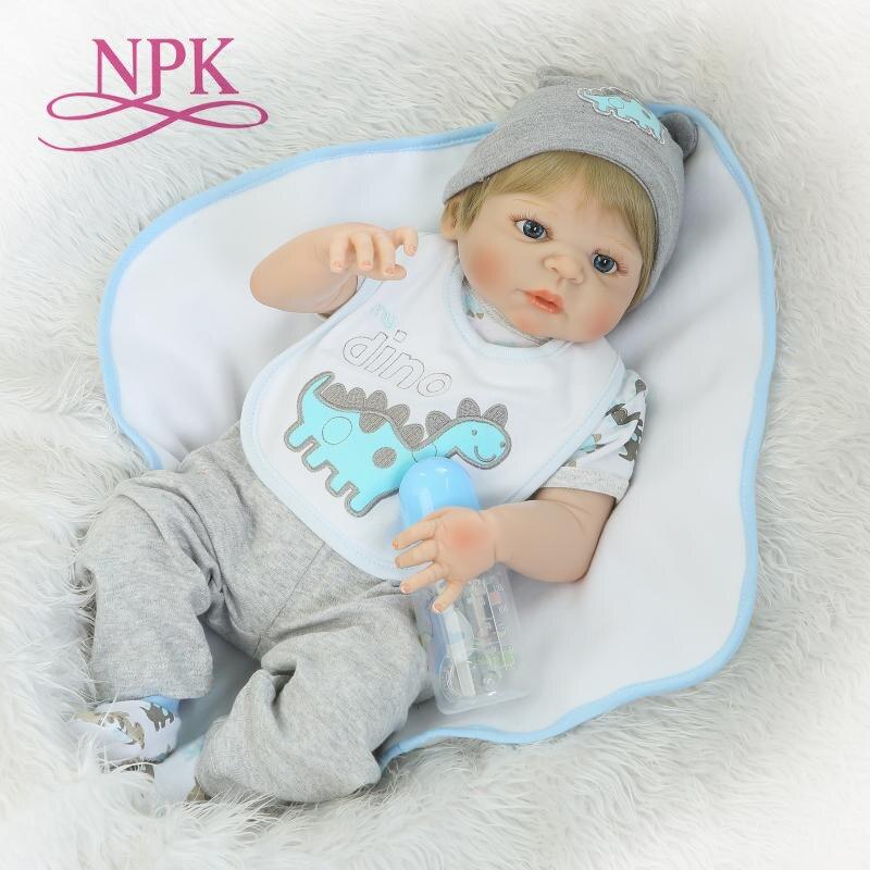 NPKCOLLECTION Reborn куклы с мягкой натуральной нежное прикосновение полное виниловое тело пупсик рождественские подарки для детей Diy игрушечные ло...