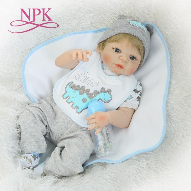 NPKCOLLECTION Reborn Puppen Mit Weiche Echt Sanfte Touch Volle Vinyl Körper Neugeborenen baby Weihnachten Geschenke Für Kinder Diy Spielzeug