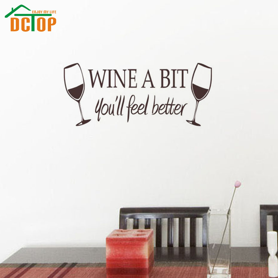 Wine A Bit You Ll Feel Better Wall Stickers Kitchen Wall