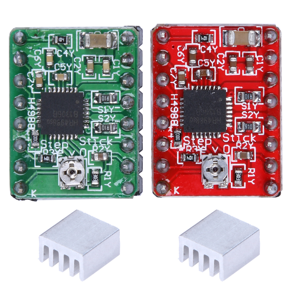 5Pcs A4988 Stepper Motor Driver Module 3D Printer Polulu StepStick RepRap with Translator and Overcurrent Protection 5pcs a4988 stepper motor driver module with heatsink free shipping